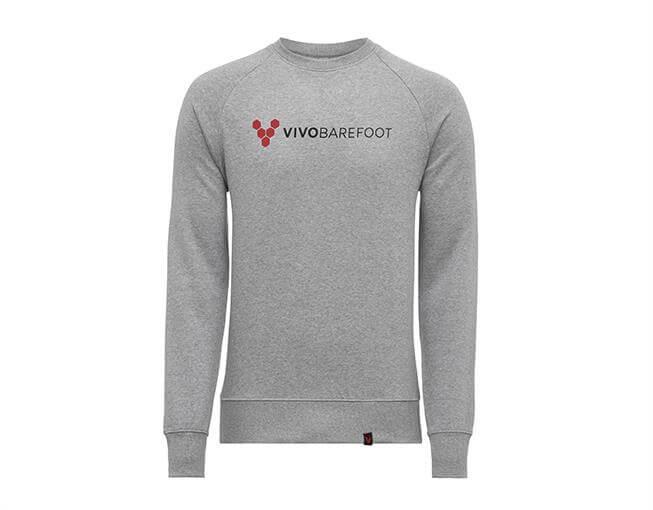 Vivobarefoot Vivo Logo Crew - Unisex - Grey XS