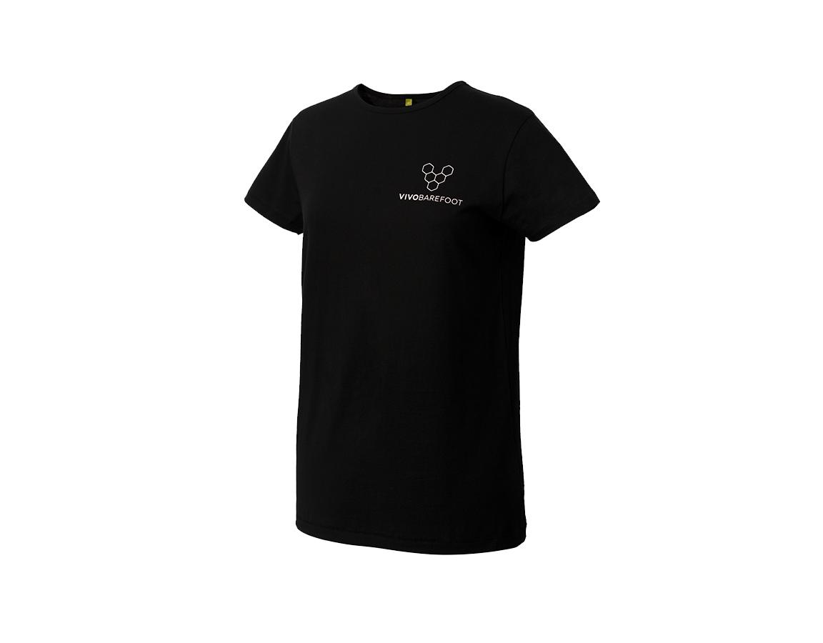 Vivobarefoot Rapanui T shirt Womens - Black 38